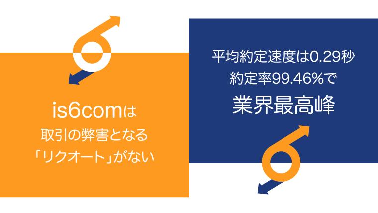 is6comはリクオートなし、高約定でスピーディーのアイキャッチ画像