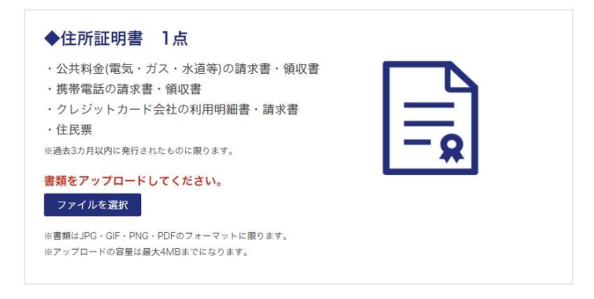 is6comの本人確認書類提出方法の解説画像