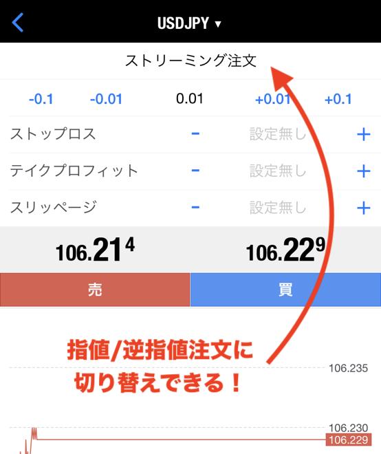 MT4iPhoneアプリの注文方法